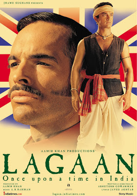 Lagaan: Once Upon a Time in India (2001), starring Aamir Khan, directed by Ashutosh Gowariker