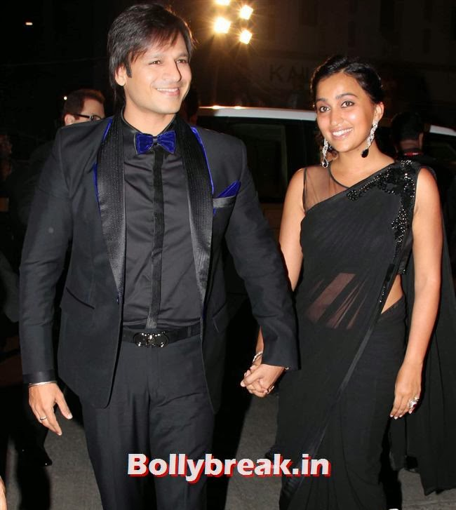 Vivek Oberoi and Priyanka, Filmfare Awards 2014 Red carpet Images