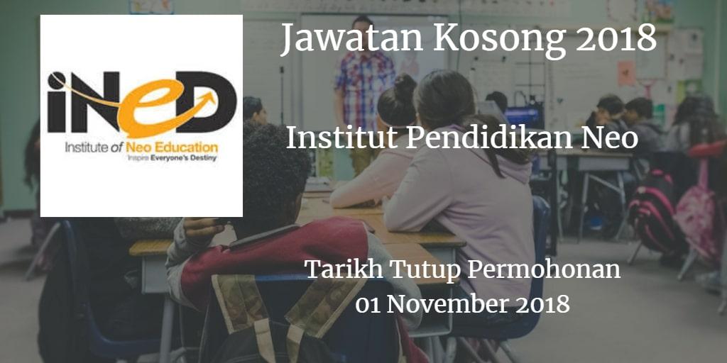 Jawatan Kosong iNED 01 November 2018