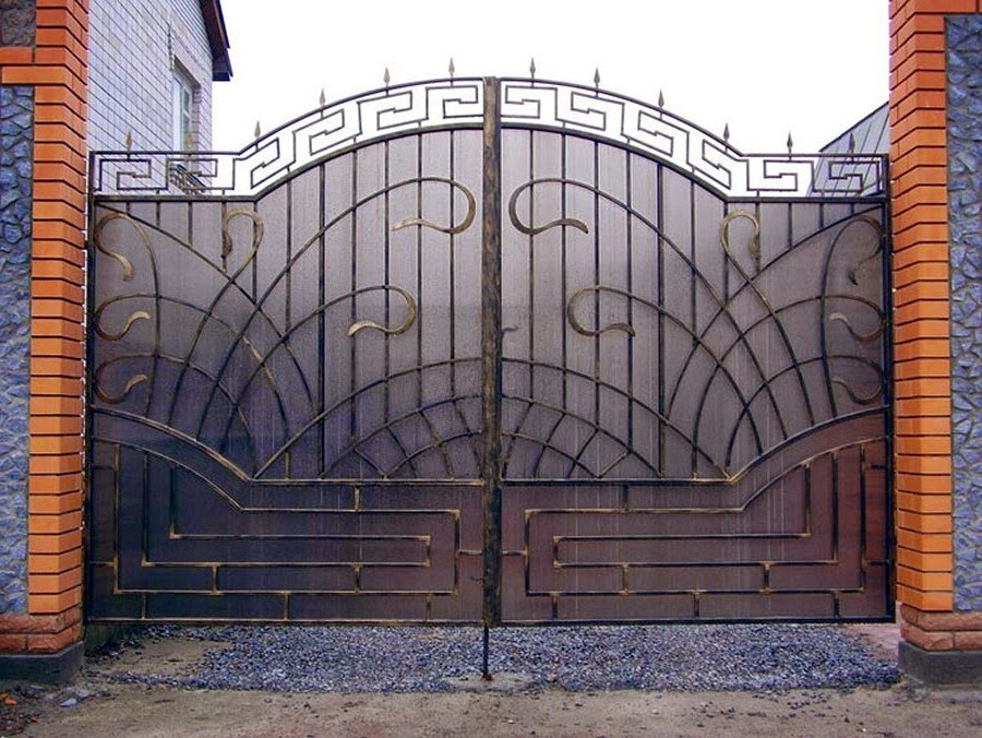 Кованые ворота и калитки фото картинки