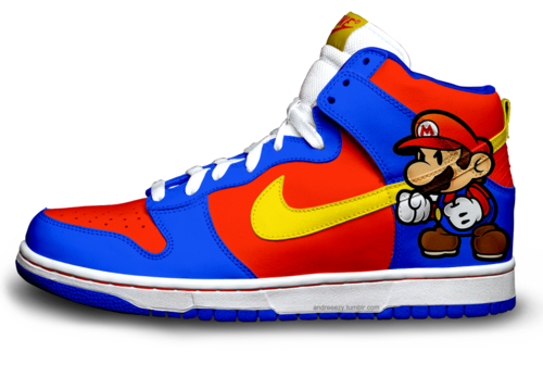 super popular e4394 e2414 Nike Sb Dunk High Premium Super Mario Footwear Red Blue is one new version  cartoon shoes . The pattern is super mario . Colorway is blue red yellow and  ...