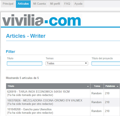 Vivilia página web