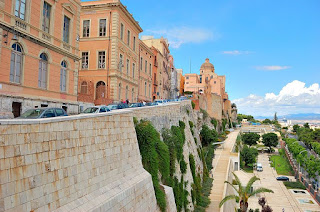The old town of Castello stands above modern Cagliari