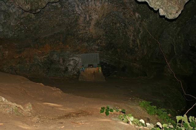 シムクガマの内部の写真