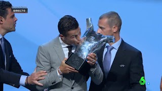 Cristiano Ronaldo Named UEFA Player Of The Year For 2016/2017