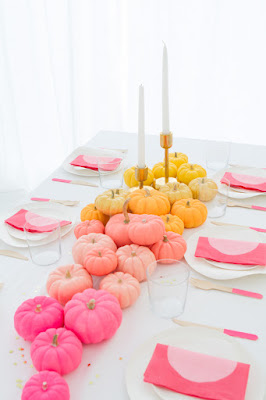 colorful thanksgiving table