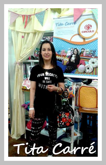 Tita Carré no festival Internacional de Patchwork e Quilt em Gramado