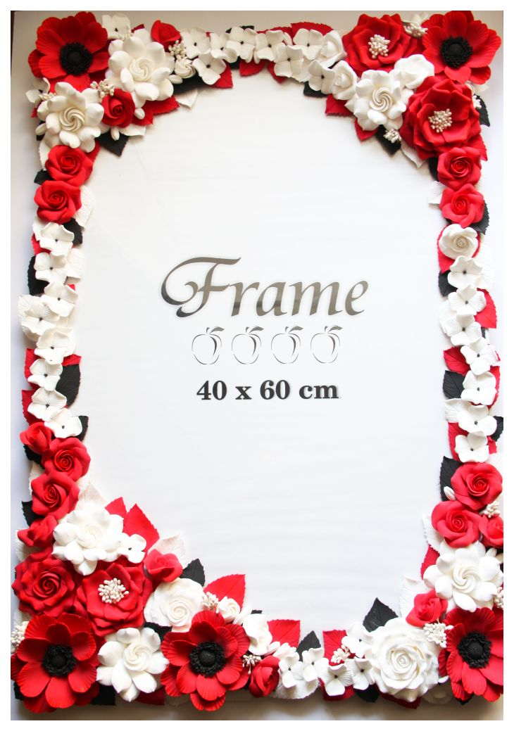 A Touch Of Beauty...: Photo Frame In Red, White And Black Colors