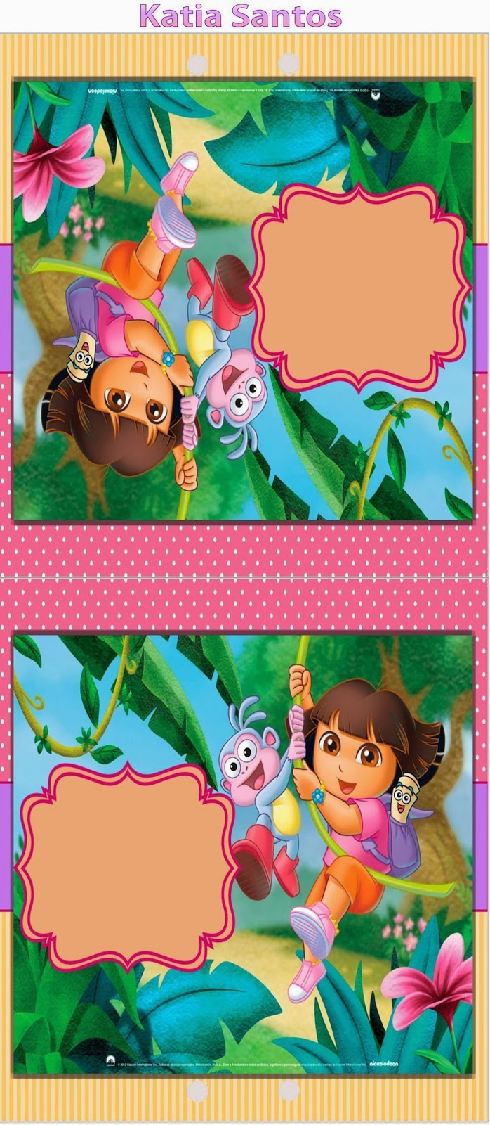 Dora the Explorer: Free Printable Invitations, Boxes and Party ...