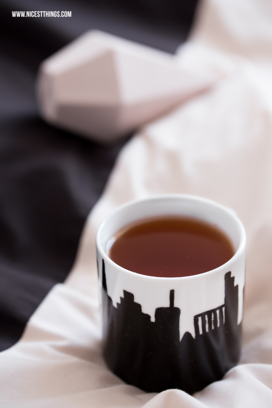 DIY Painted Porcelain Mug New York City Skyline