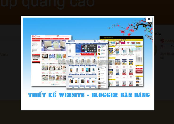 popup quang cao giua trang website cho blogspot