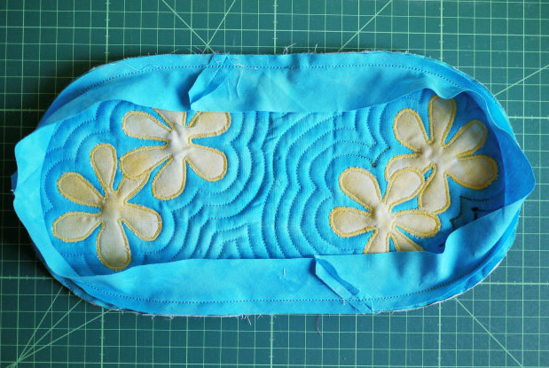 Нawaiian Quilting Cosmetic Bag. Photo Sewing Tutorial. Step by step DIY.