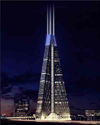 Gambar gedung Russia Tower render tertinggi di rusia dan dunia