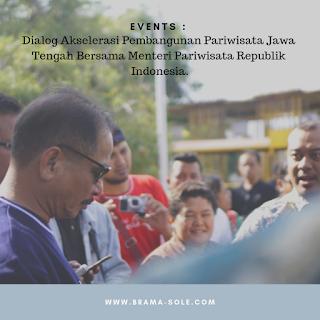 Dialog Akselerasi Pembangunan Pariwisata Jawa Tengah Bersama Menteri Pariwisata Republik Indonesia.