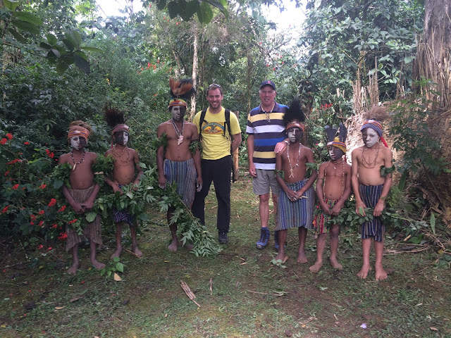 Meeting some local village boys in Mount Hagen, Papua New Guinea