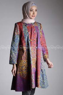 Cardigan Batik Wanita Muslimah