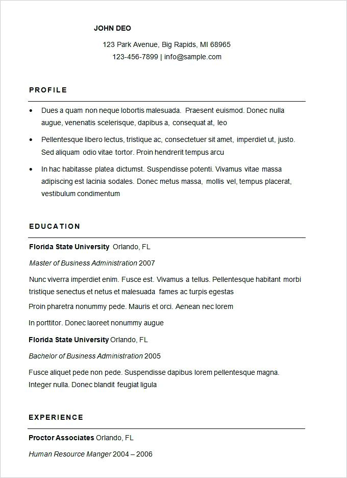 Free Resume Templates 2019 for Jobs.