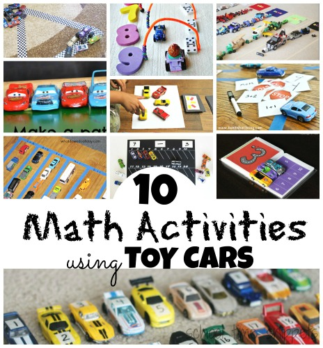 math concepts with toy cars