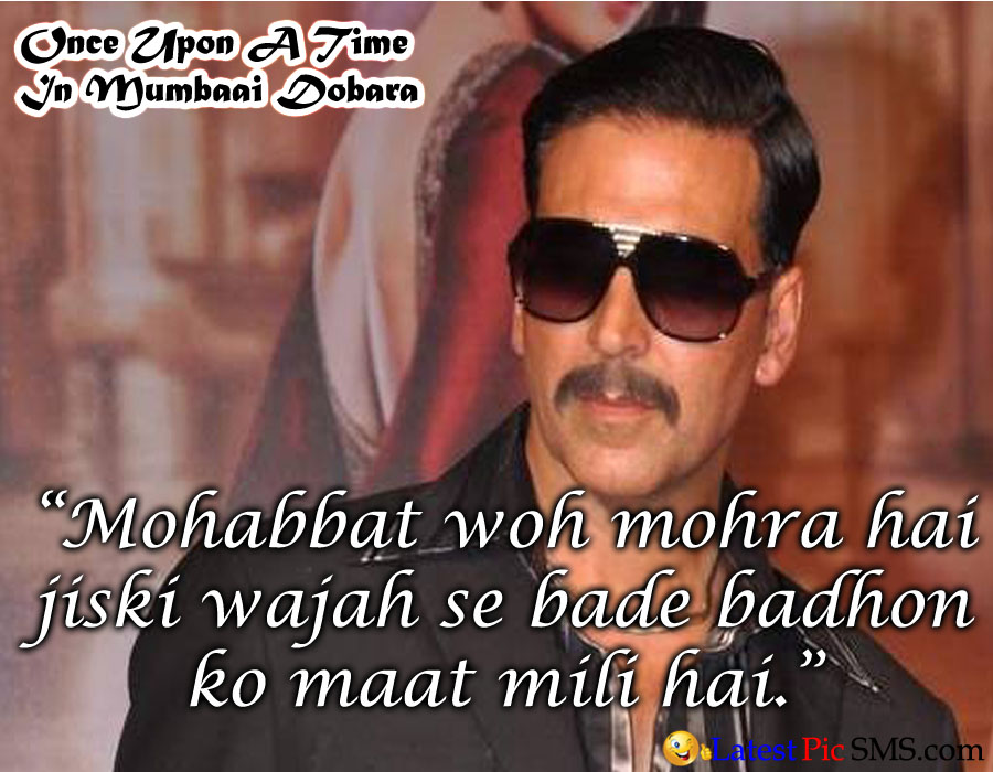 once upon a time in mumbai dabara akshay dialogues quote