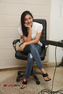 Tollywood Telugu Actress Mouryaani Latest Stills in Ripped Jeans at Intlo Deyyam Nakem Bhayam Movie Interview  0074.JPG