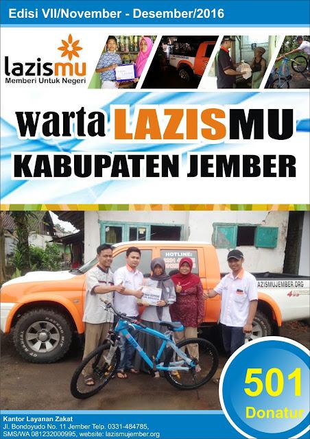 Cover Laporan Lazismu Jember bulan Nopember - Desember 2016