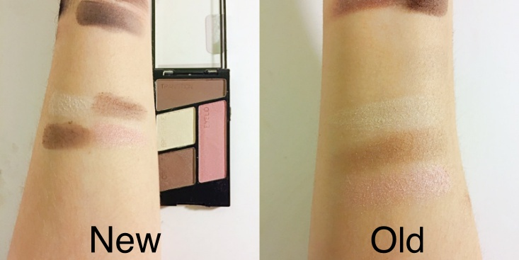 wet n wild coloricon Eyeshadow Quad old vs new Sweet as Candy swatch