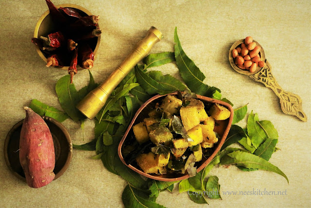 Sweet Potato & Neem Leaves Curry