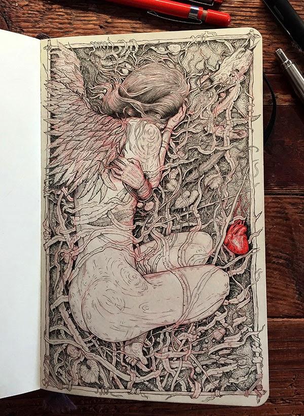 My Moleskine: Drawings by Grzesiek Wróblewski
