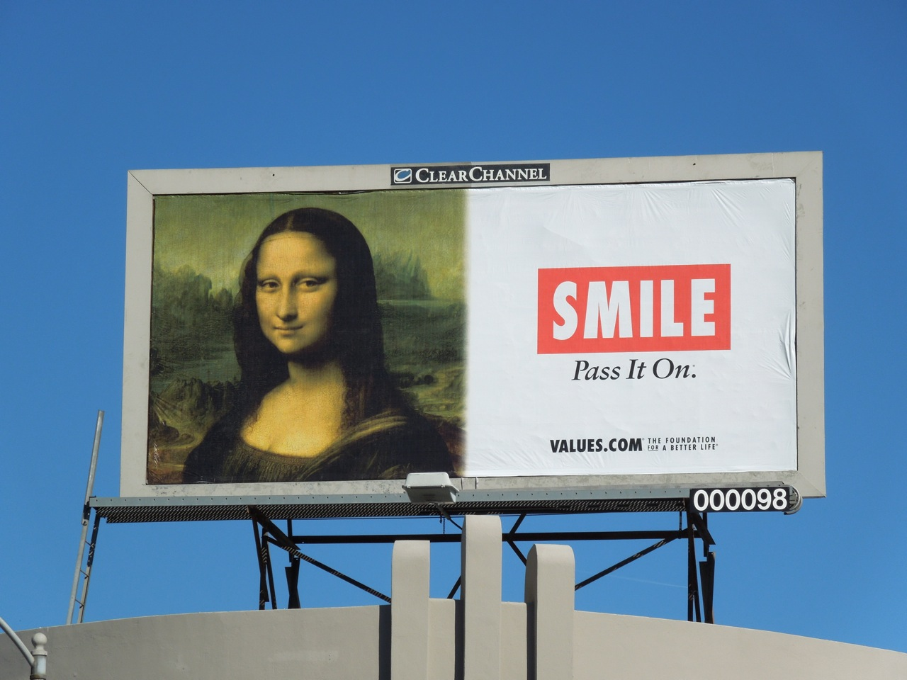 4f007345f51 Daily Billboard  Mona Lisa Smile Values billboards... Advertising ...