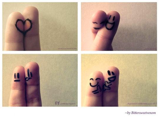 12 Hand Finger Art