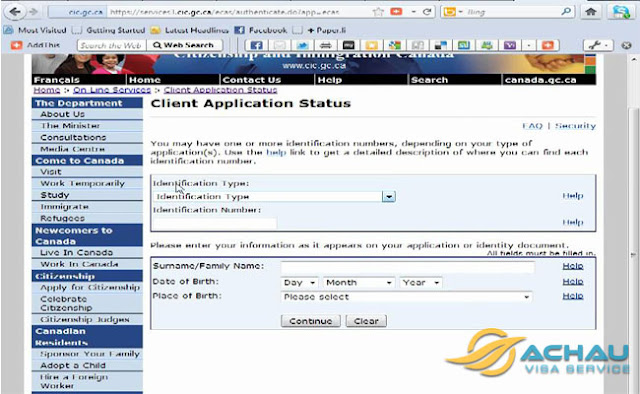 Nộp hồ sơ online xin visa Canada