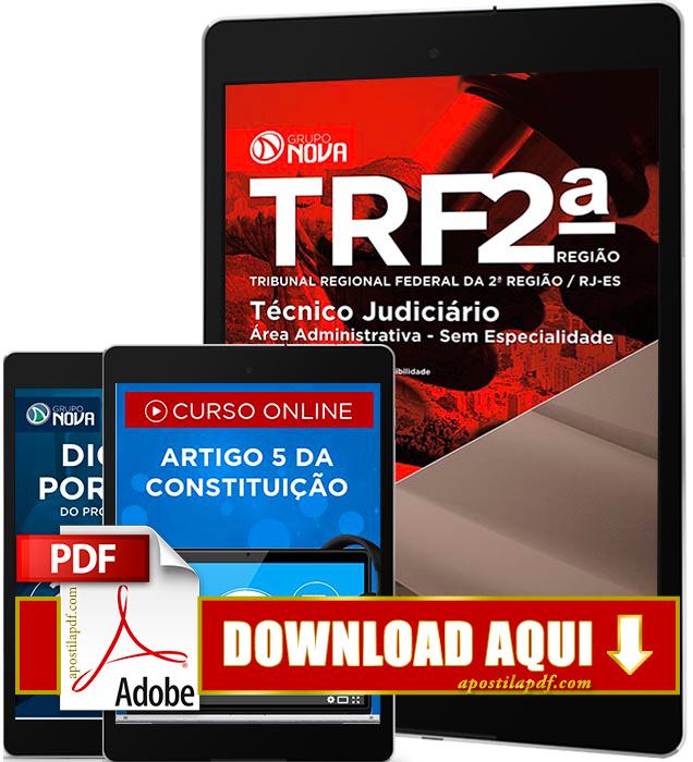 Apostila TRF 2 Região 2016 PDF Download Técnico Judiciário PDF Digital