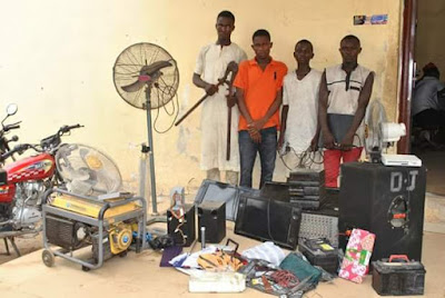 Photo: Police arrest members of a notorious house breaking syndicate in Minna