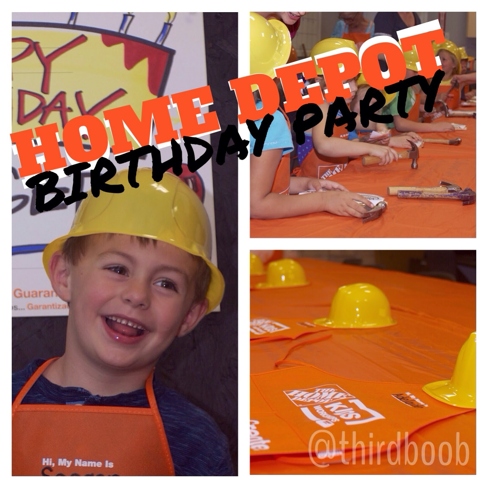 The Third Boob Celebration Home Depot Birthday Party