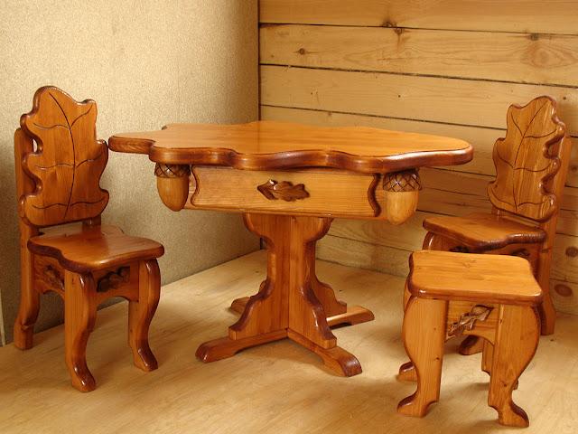 bàn ghế gỗ đóng