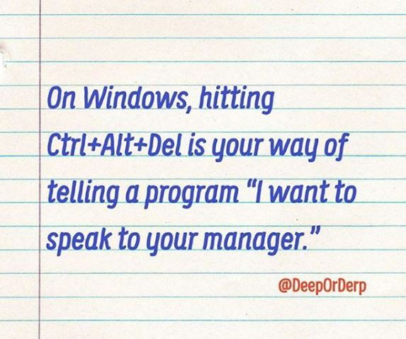 ctrl alt del on windows