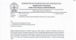 Terbaru! Surat Edaran Pendaftaran Calon Peserta PPG Dalam Jabatan Tahun 2018