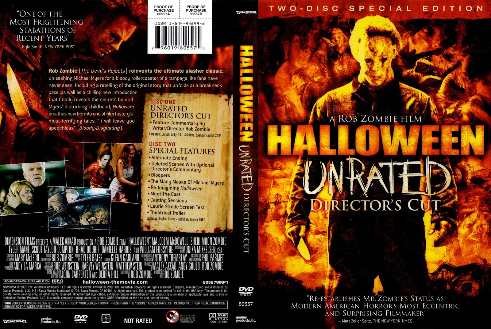 The Horrors of Halloween: HALLOWEEN (2007) VHS, DVD and Blu-ray Covers
