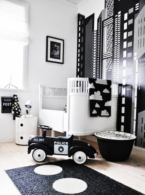 Bold Black And White Nurseries Ideas