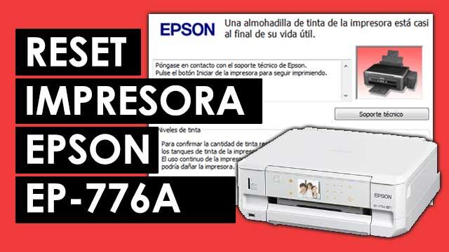 resetear almohadillas impresora Epson EP776A