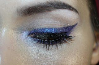 blue purple shimmery winged eyeliner sugarpill