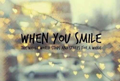 Smile happiness Quotes: when you smile dear.