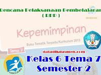 RPP KELAS 6 TEMA 7 SD/MI KURIKULUM 2013 REVISI 2018