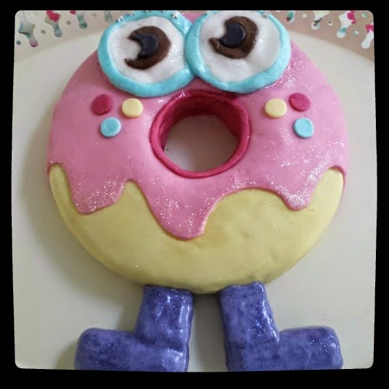 Birthday Cake Could Only Be One Such Character The Moshling Of Choice Was Oddie A Donut Shaped Monster With Big Eyes And Little Legs