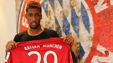 Kingsley Coman ra mắt Bayern Munich