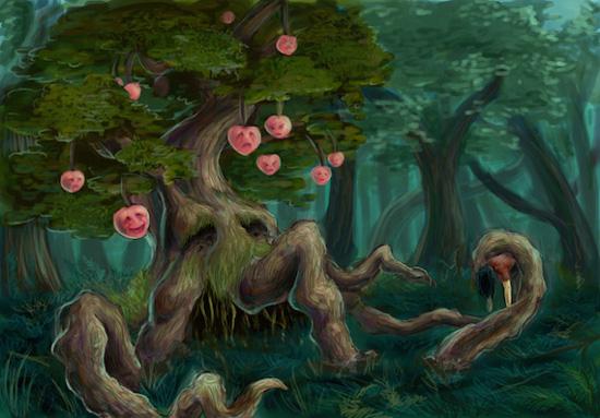Pohon buah berwajah manusia