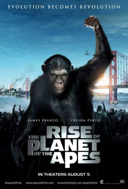 RISE OF THE PLANET OF THE APES (2011) movie review by Glen Tripollo