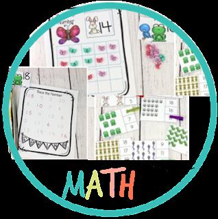 spring number sense - kindergarten math