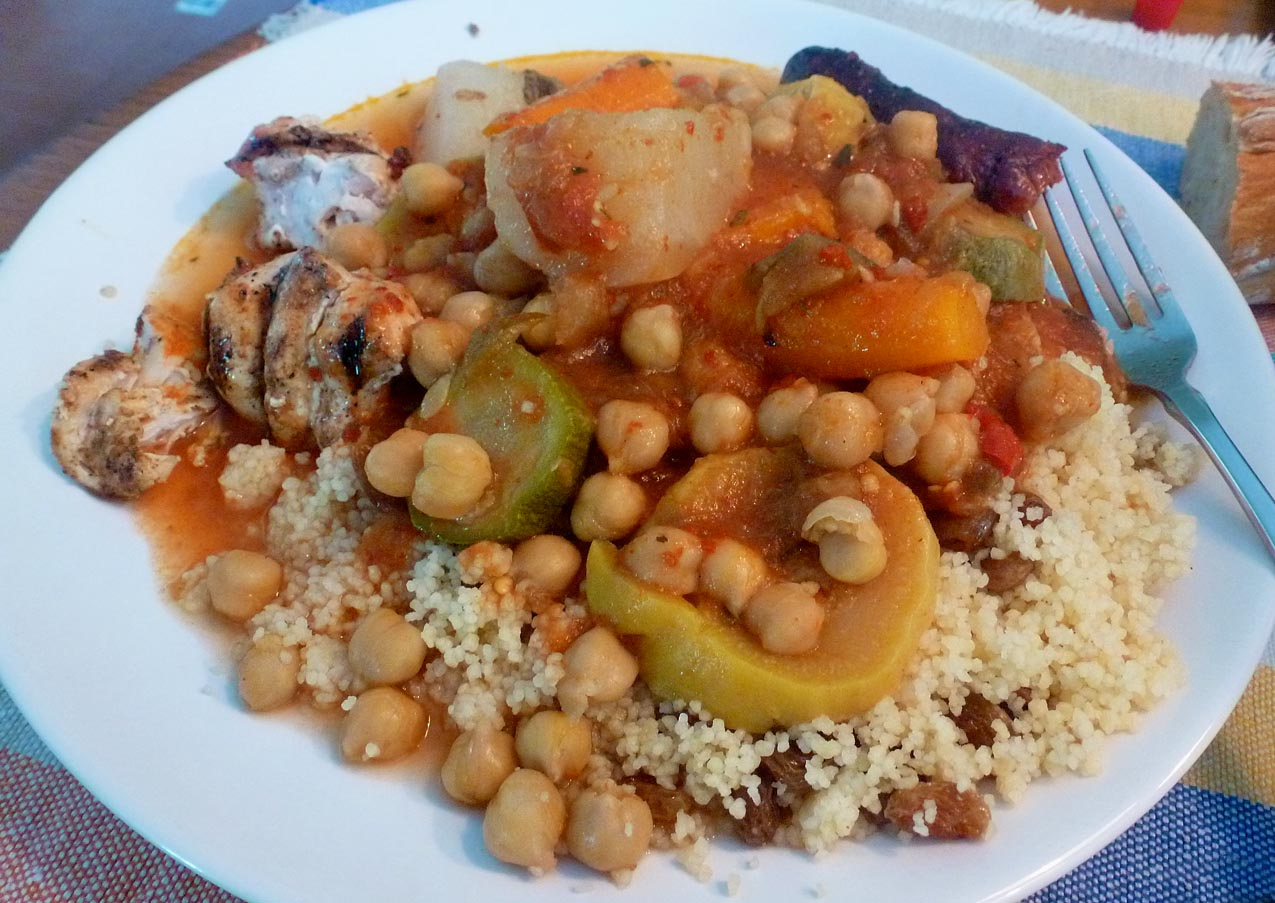Living the life in saint aignan: salade gives way to couscous