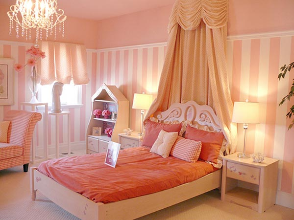 Dormitorio para chica estilo rom ntico dormitorios con - Cute colors to paint your room ...